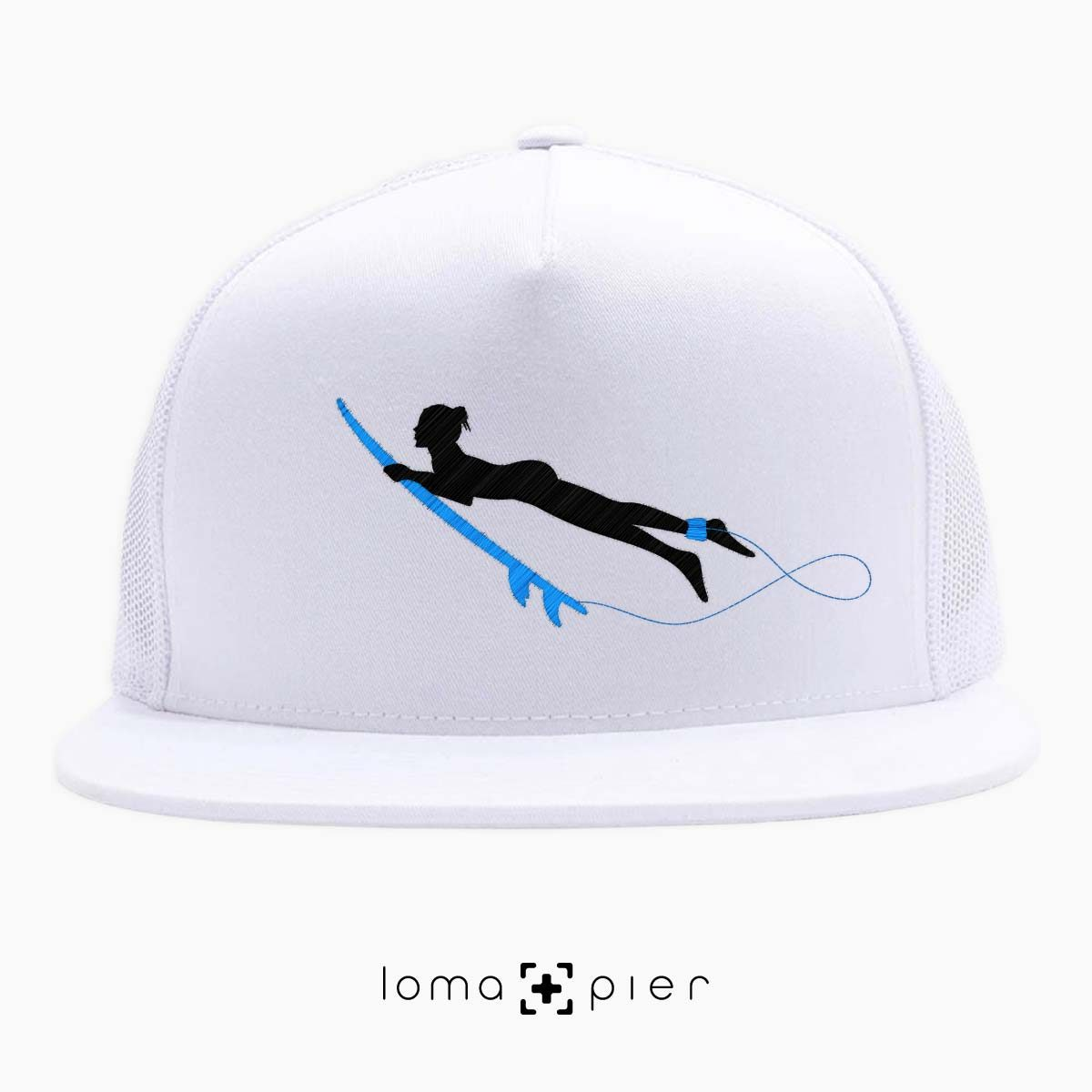 SURFING NAKED nude beach netback hat in white by loma+pier hat store