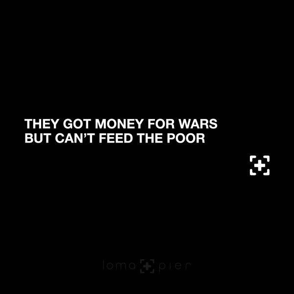 MONEY FOR WAR rap lyrics