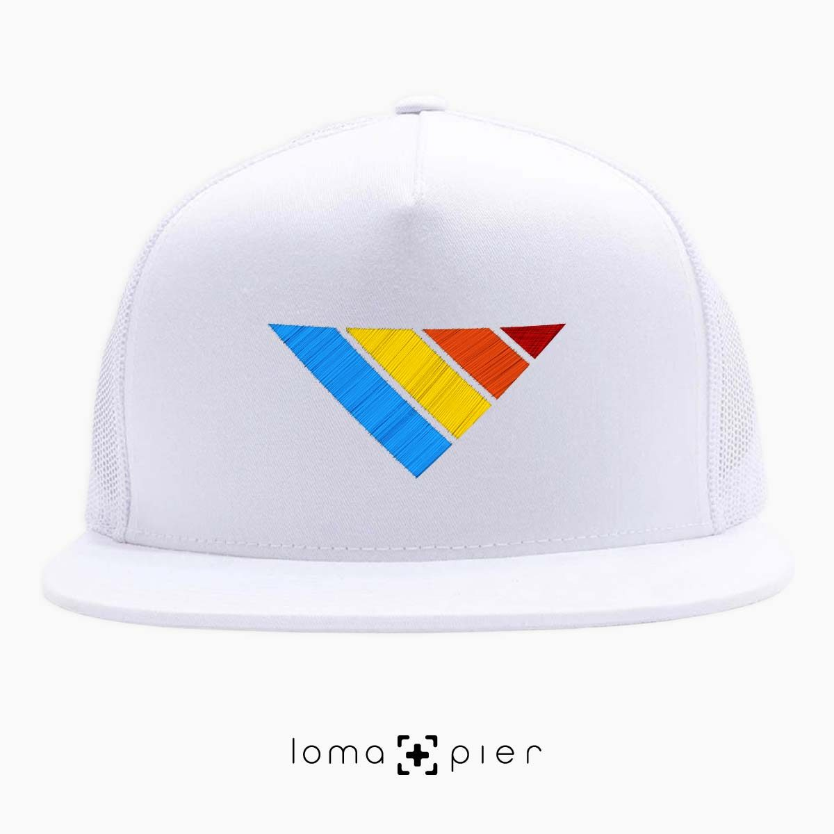 COLORFUL sTRIpes icon beach netback hat in white by loma+pier hat store