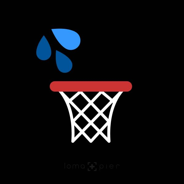 WET JUMPER basketball hoop icon
