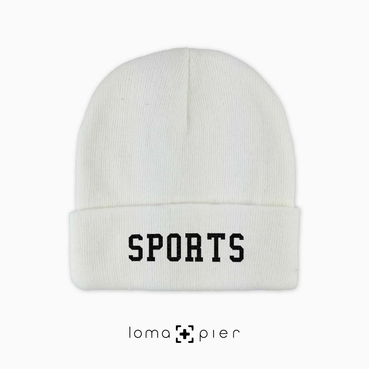 SPORTS cuffed beanie cap by the loma+pier hat shop