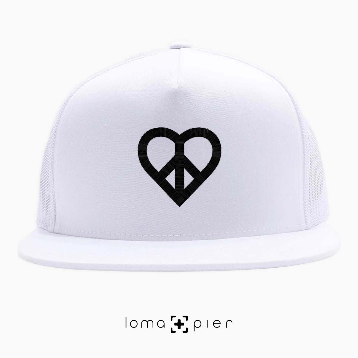 HEART and PEACE SIGN icon netback hat by loma and pier hat shop